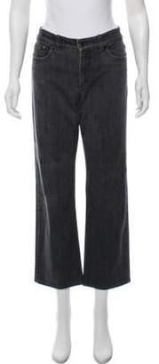 Loro Piana Mid-Rise Straight-Leg Jeans Grey Mid-Rise Straight-Leg Jeans