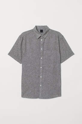 H&M Linen-blend Shirt - Green