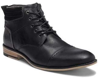Steve Madden Kontac Leather Cap Toe Boot