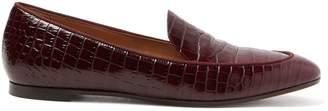 Aquazzura Pursuit crocodile-effect leather loafers