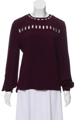 Andrew Gn Cutout Long Sleeve Top