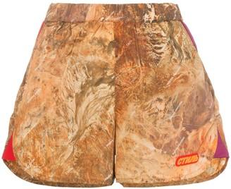 Heron Preston high-waisted camouflage shorts