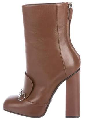 Gucci Leather High-Heel Boots w/ Tags