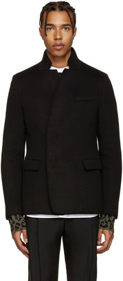 Wooyoungmi Black Notched Collar Blazer $835 thestylecure.com