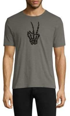 John Varvatos Skeleton Peace Sign Graphic Tee