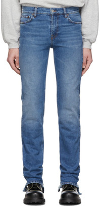 Balenciaga Blue Stretch Distressed Jeans