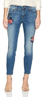 Miraclebody Jeans Miracle Body Women's Faith-Ankle Jean with Embroidery