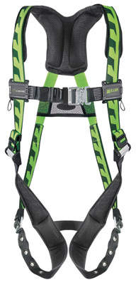 Honeywell Miller by Universal DuraFlex AirCore Full Body Style Harness With Back D-Ring, Tongue Leg Strap Buckle, Quick Connect Chest Strap Buckle And Sub-Pelvic Strap