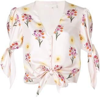 Borgo De Nor floral knotted blouse