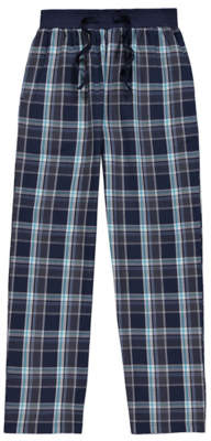 George Navy Woven Check Print Pyjama Bottoms