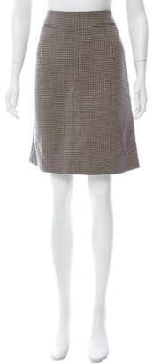 Marni Knee-Length Houndstooth Skirt w/ Tags