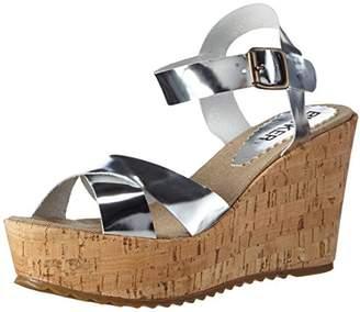 Bunker Women's Sandal Open Toe Sandals Silver Size: 4
