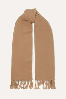 Acne Studios Canada Narrow Fringed Wool Scarf - Camel