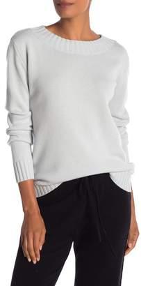 Vince Off Shoulder Long Sleeve Ribbed Sweater