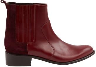 Roseanna Burgundy Leather Boots