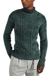 Sies Marjan Men's Rory Velour Mock Turtleneck Sweater - Green