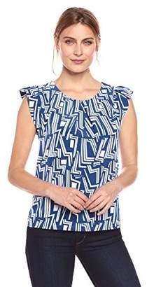 Lark & Ro Women's Flutter Sleeve Top