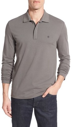 Men's Victorinox Swiss Army Tailored Fit Long Sleeve Zip Polo $115 thestylecure.com