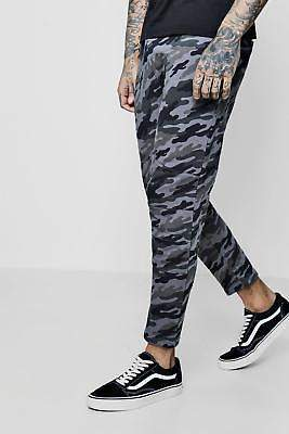 boohoo Mens Cropped Panelled Jogger
