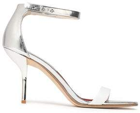 Diane von Furstenberg Ferrara Suede And Metallic Leather Sandals