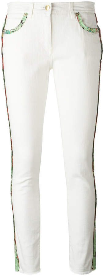 Etro lateral strap cropped jeans