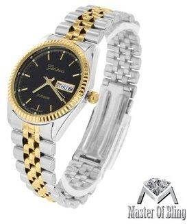 大統領スタイル腕時計メンズホワイトイエローゴールド2トーンレディーススリムデザインラグジュアリー