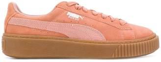 Puma low top platform sneakers