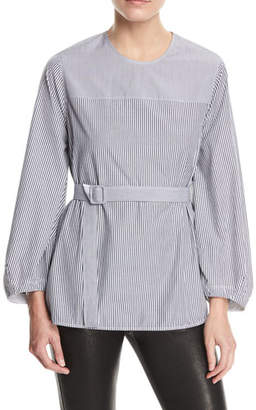 Elizabeth and James Jesse P Mixed-Stripe Belted Blouse