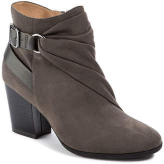 Andrew Geller Womens Kate Dress Boots Block Heel Zip