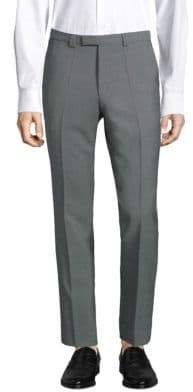 HUGO Slim-Fit Micro-Print Wool Trousers