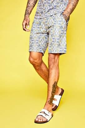 boohoo Mid Length Floral Print Shorts