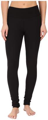 Plush Fleece-Lined Cotton Yoga Leggings with Hidden Pocket Women's Casual Pants