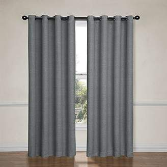 Eclipse Curtains Eclipse 12966052095PWT Bobbi 52-Inch by 95-Inch Grommet Blackout Single Window Curtain Panel