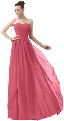 VaniaDress Sweetheart Chiffon Long Bridesmaid Dress Prom Gonws V003LF US