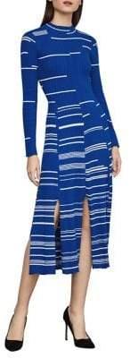 BCBGMAXAZRIA Mixed Stitch Cotton Sweater Dress