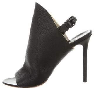 Balenciaga Leather Peep-Toe Sandals