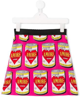 Dolce & Gabbana can print skirt