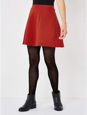 George Burnt Orange Jacquard Skater Skirt