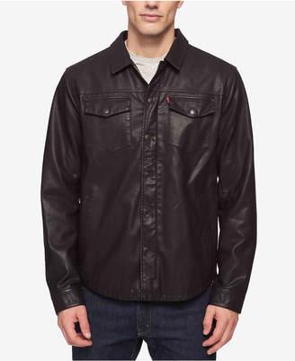 Levi's Men's Lightweight Faux Leather Shirt Jacket