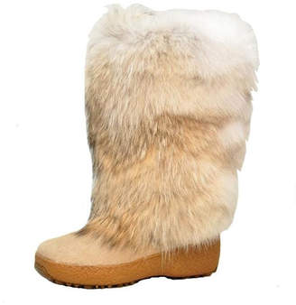 Regina Coyote Fur Boot