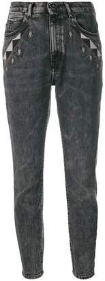 Diesel Black Gold geometric detailed skinny jeans