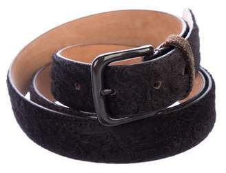 Etro Ponyhair Wrap Belt