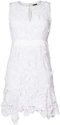 Just Cavalli floral broiderie anglaise mini dress