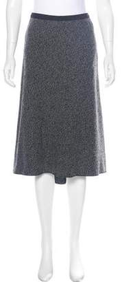 Behnaz Sarafpour Wool High-Low Skirt