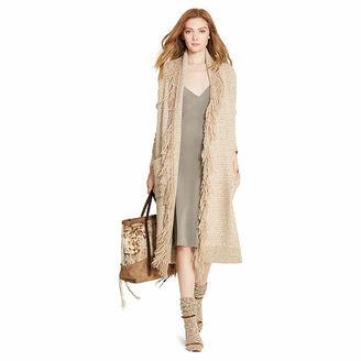 Polo Ralph Lauren Fringe-Trim Sweater Coat $698 thestylecure.com