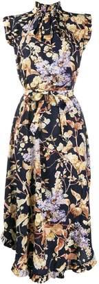 Zimmermann floral sleeveless shirt dress