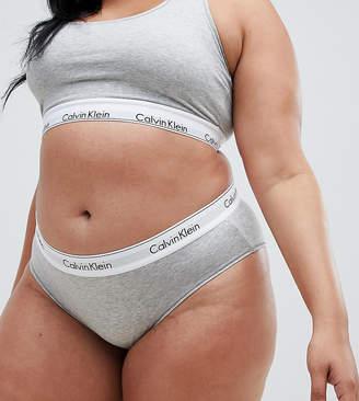 Calvin Klein plus size modern cotton short brief in grey