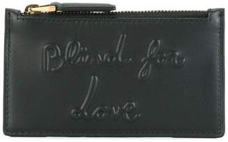 Gucci blind for love embossed coin pouch