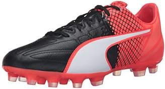 Puma Men's Evospeed 3.5 LTH ag Soccer Shoe Black White/Red