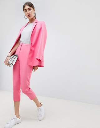 Asos DESIGN Cigarette PANTS in Pop Pink